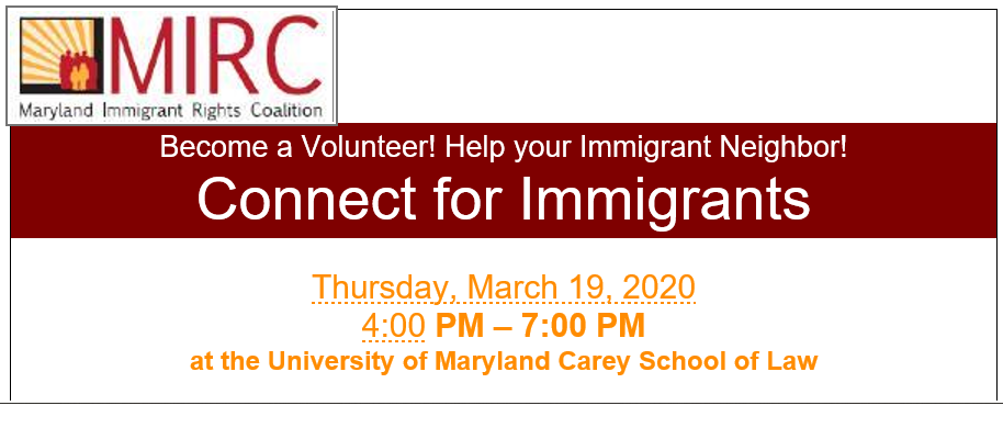 Become a Volunteer! Help your Immigrant Neighbor! Connect for Immigrants